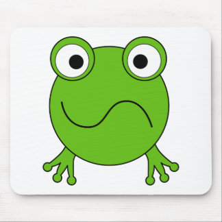 Green Frog. Looking confused. Mouse Mat