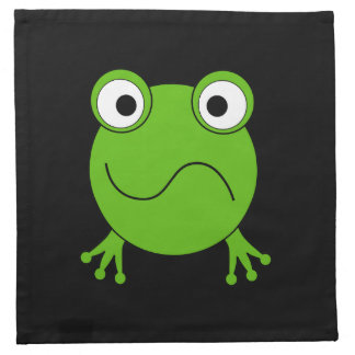 Green Frog. Looking confused. Napkin
