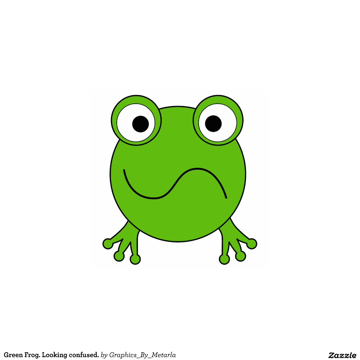 Green Frog Looking Confused Photo Cut Outs Zazzle