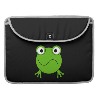 Green Frog. Looking confused. Sleeve For MacBook Pro