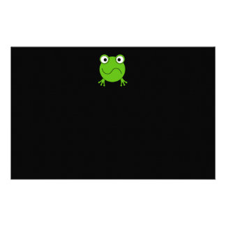 Green Frog. Looking confused. Stationery