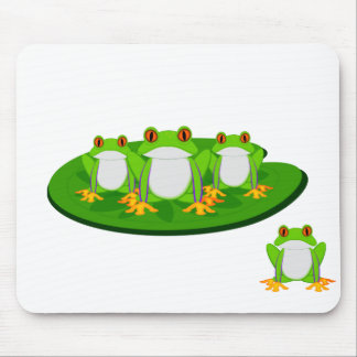 Green Frog Mousepads