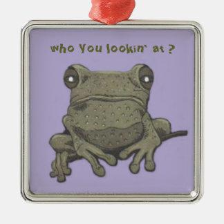 green frog ornament