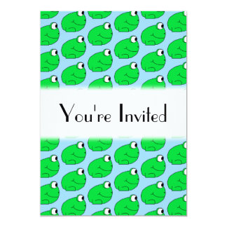 Green Frog Pattern. Card