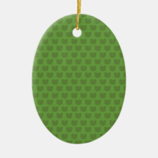 Green Frog Pattern Christmas Ornament