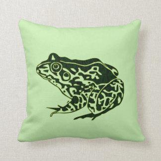 Green Frog Pillow