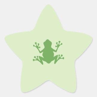Green Frog Star Sticker