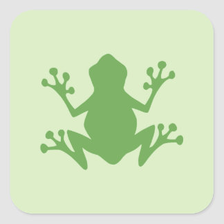 Green Frog Square Stickers