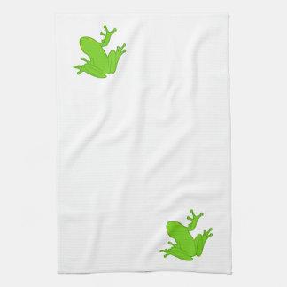 Green Frog Tea Towel