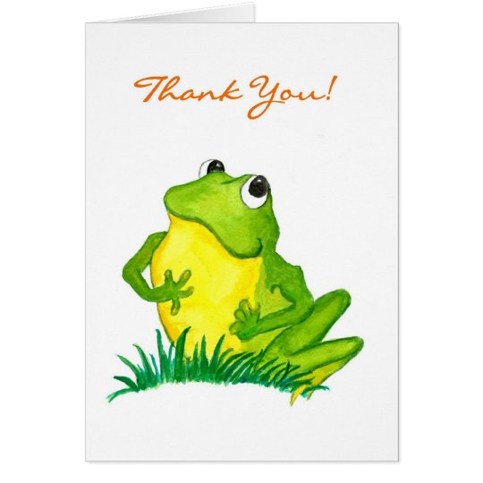 Green Frog 'Thank You!' Notecard
