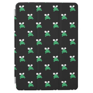Green Frogs on Black iPad Air Cover