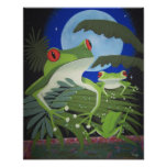 green frogs posters