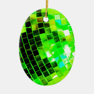 Green Funky Disco Ball Christmas Ornament