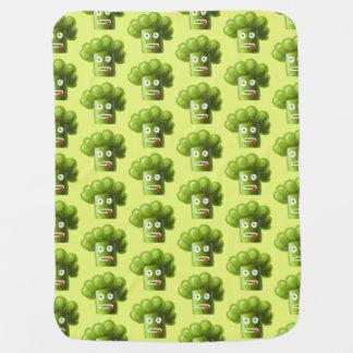 Green Funny Cartoon Broccoli Pattern Baby Blanket