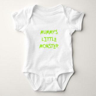 Green Funny Mummy's Little Monster Halloween Tee Shirt