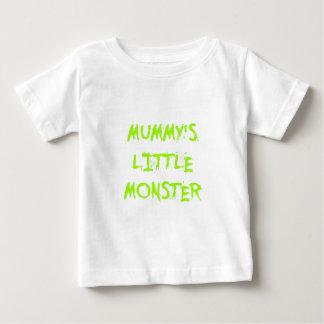Green Funny Mummy's Little Monster Halloween T-shirt