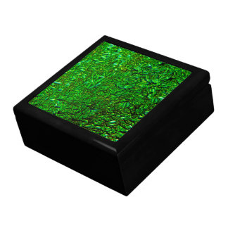 Green fused glass gift box