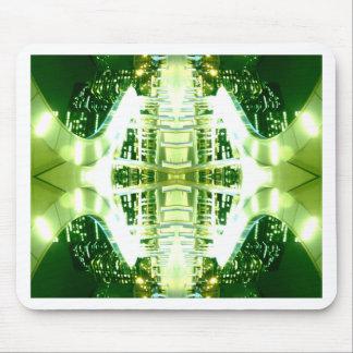 Green Futuristic Light Groove Mousepad