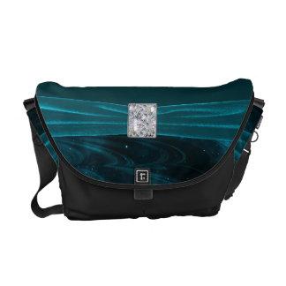Green Galaxy Swirls Courier Bags