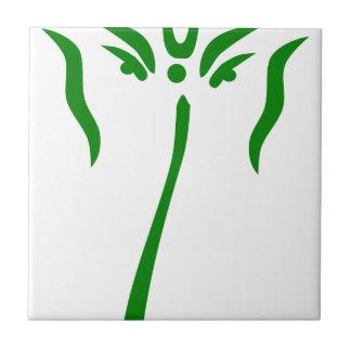 Green Ganesha Small Square Tile