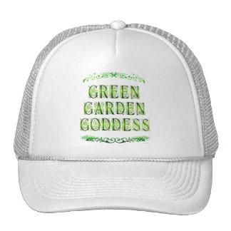 Green Garden Goddess Saying Cap