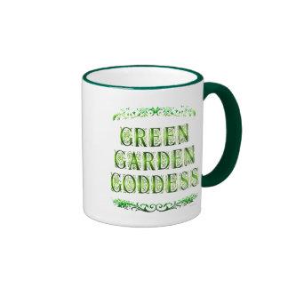 Green Garden Goddess Saying Coffee Mug