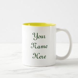 Green Garden Goddess Saying Two-Tone Mug