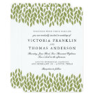 Green Garden Leaves Wedding Invitation
