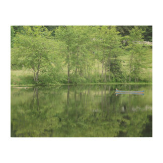 Green Garden Reflections Wood Print