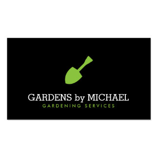 Green Garden Shovel Gardening Landscaping Services Pack Of Standard Business Cards