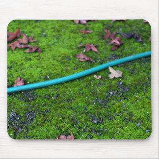 Green Garden Snake Hose Mouse Mat