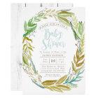 Green Garden | Watercolor Baby Shower Invite