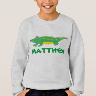 Green Gator Alligator Crocodile Croc Personalized Sweatshirt
