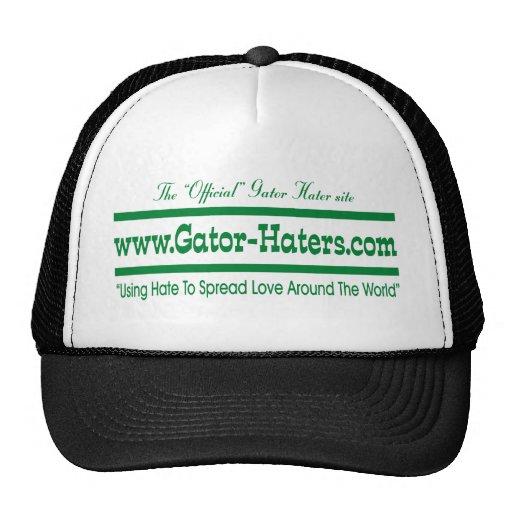Green Gator Hater Banner Mesh Hats