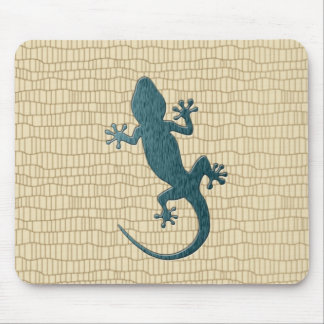 Green Gecko on Reptile Mouse Mat