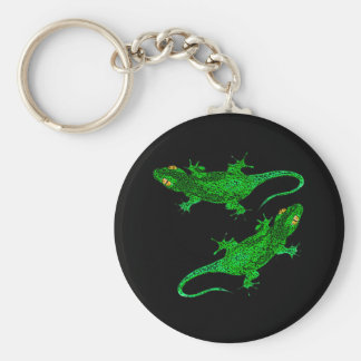 Green geckos key ring