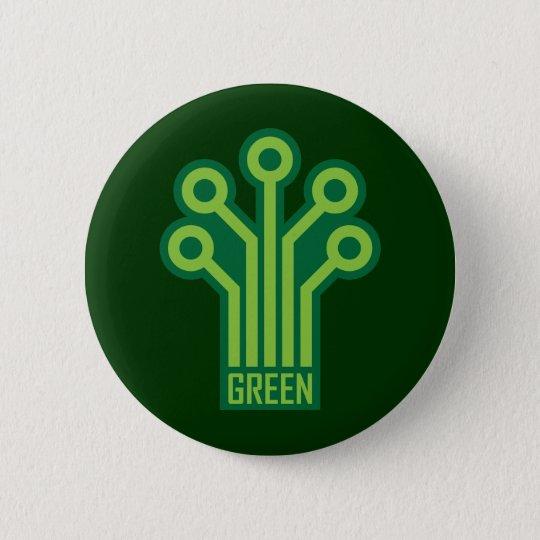 Green Geek 6 Cm Round Badge