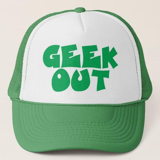 Green Geek Out Text Design Trucker Hat
