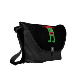 Green gentleman, red hat commuter bag