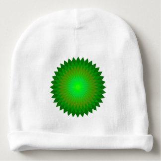 Green geo'. baby beanie