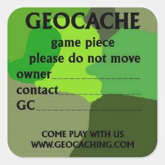 Green geocache ID large Sticker