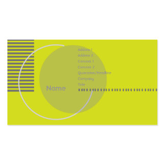 Green Geometric - Busihness Pack Of Standard Business Cards