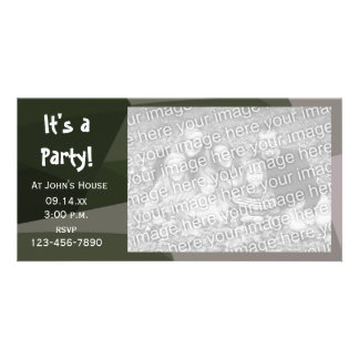 Green Geometric Camouflage Party Invite Photo Card