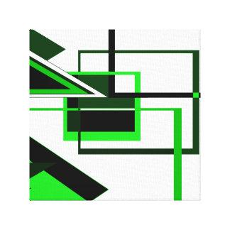 Green Geometric Canvas Print