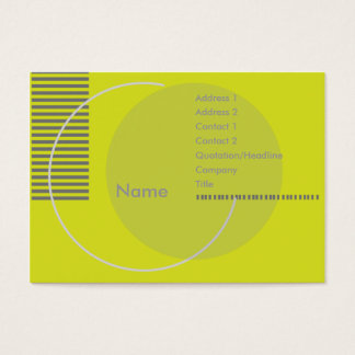 Green Geometric - Chubby Business Card