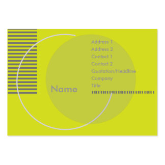 Green Geometric - Chubby Pack Of Chubby Business Cards