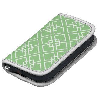 Green Geometric Diamond Pattern Planner