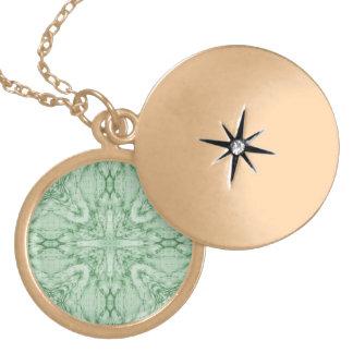 Green geometric pattern custom jewelry