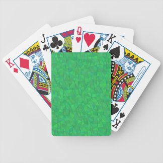 Green Geometric Pattern Playing Cards