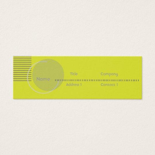 Green Geometric - Skinny Mini Business Card